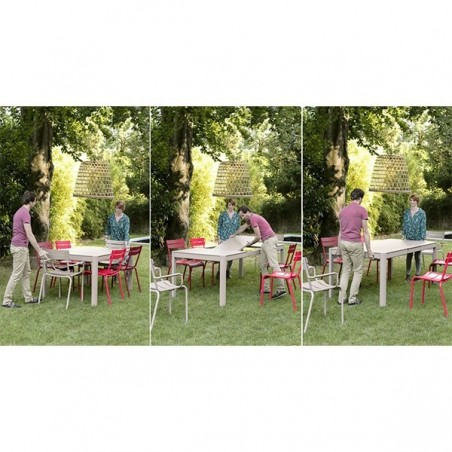 Table à rallonge Ribambelle - 6-14 personnes - FERMOB - Confort Jardin - Les Issambres
