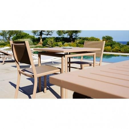 Table carrée 80 x 80 cm COSTA - FERMOB - Confort Jardin - Les Issambres