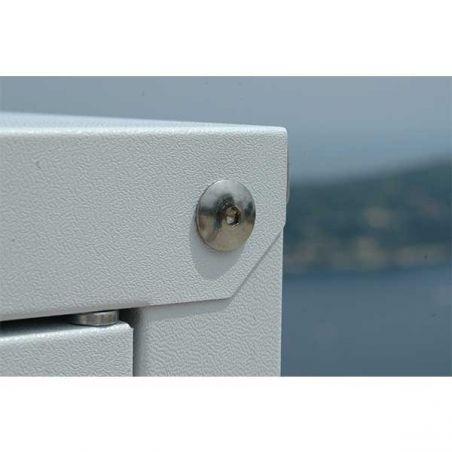 Armoire métallique pour balcon et jardin 155/100 cm