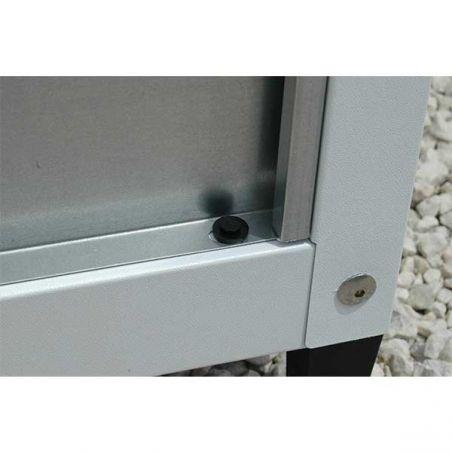 Armoire métallique pour balcon et jardin 155/80 cm