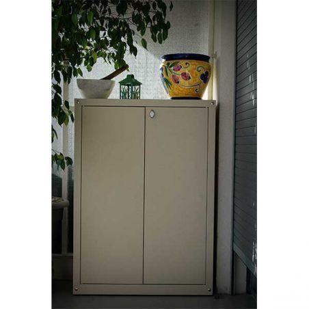 Armoire métallique pour balcon et jardin 90/80 cm