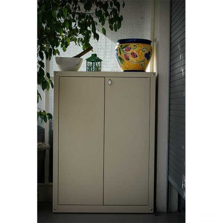 Armoire métallique pour balcon et jardin 120/80 cm