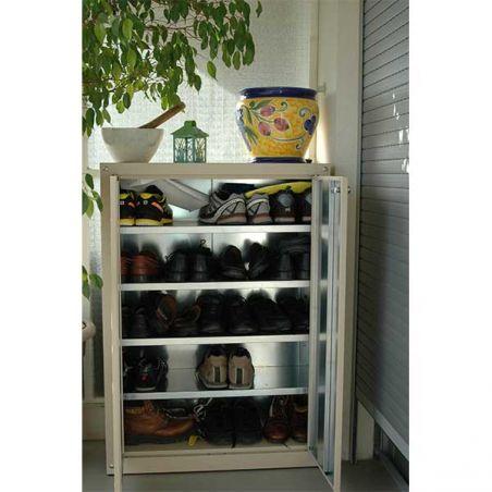 Armoire métallique pour balcon et jardin 120/90 cm