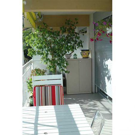 Armoire métallique pour balcon et jardin 120/100 cm