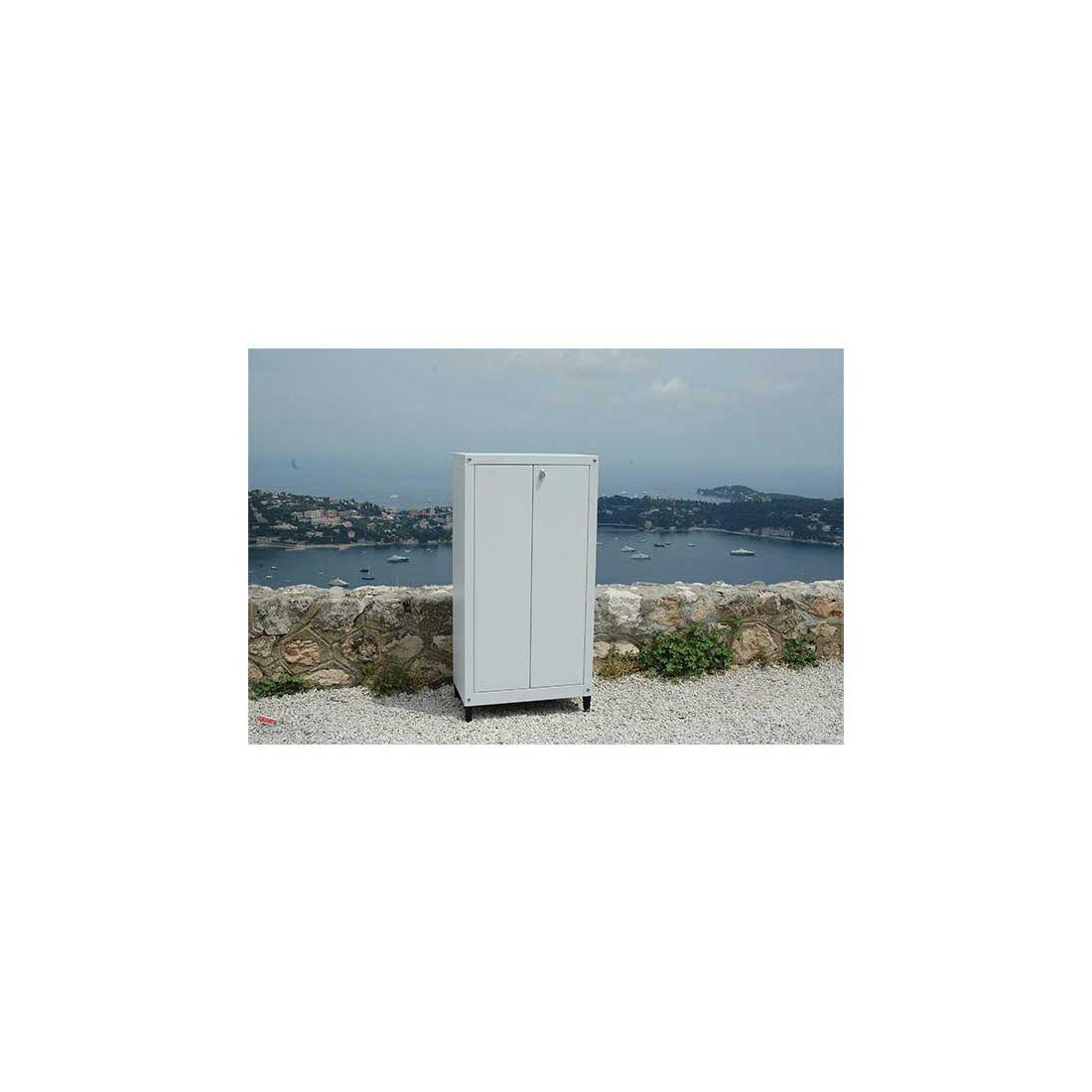 armoire m tallique pour balcon et jardin 120 70 cm 797. Black Bedroom Furniture Sets. Home Design Ideas