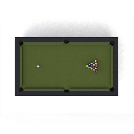 Table de billard extérieure multifonction - noir/marron - RILEY