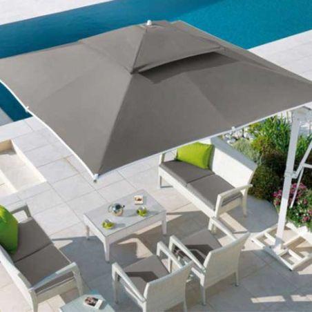 Socle blanc pour parasol excentré Easy Shadow et Pagoda Vlaemynck