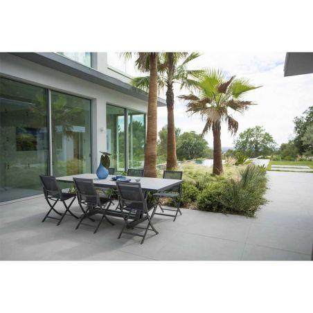 Chaise repas de jardin pliante AMAKA - blanche - LES JARDINS