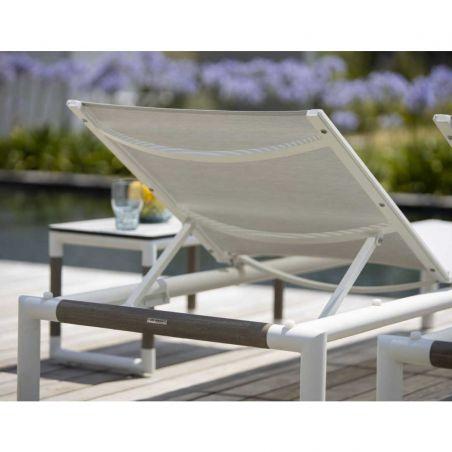 Bain de soleil inclinable BASTINGAGE - blanc - LES JARDINS