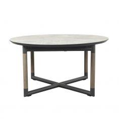 Table ronde extensible BASTINGAGE - grise - LES JARDINS