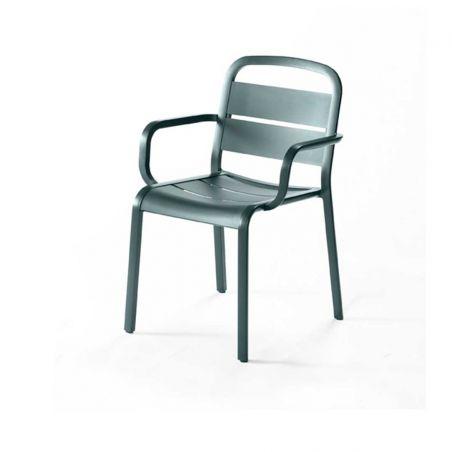 Chaise repas MARUMI - aluminium laqué - EGO