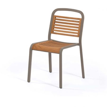 Chaise repas MARUMI - teck - EGO