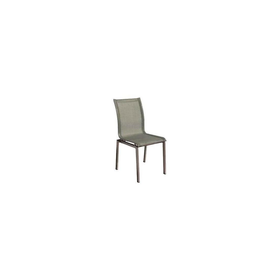 chaise coffee emplilable structure en aluminium et