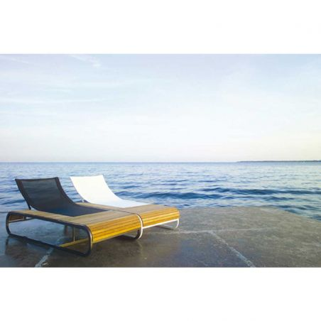 Bain de soleil design TANDEM - teck - EGO