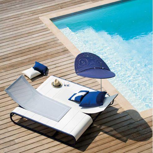 Bain de soleil design TANDEM - Corian - EGO