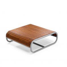 Table basse carrée TANDEM - teck - EGO