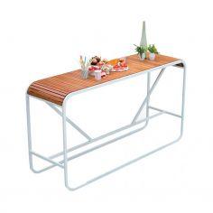 Table haute TANDEM - teck - EGO