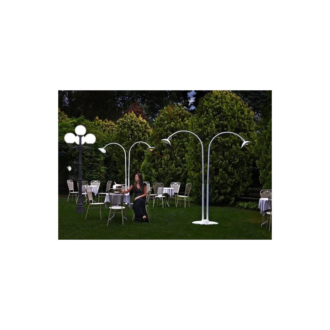Lampe chauffante infrarouge mobile double blanche phormalab confort jardin - Lampe chauffante infrarouge ...