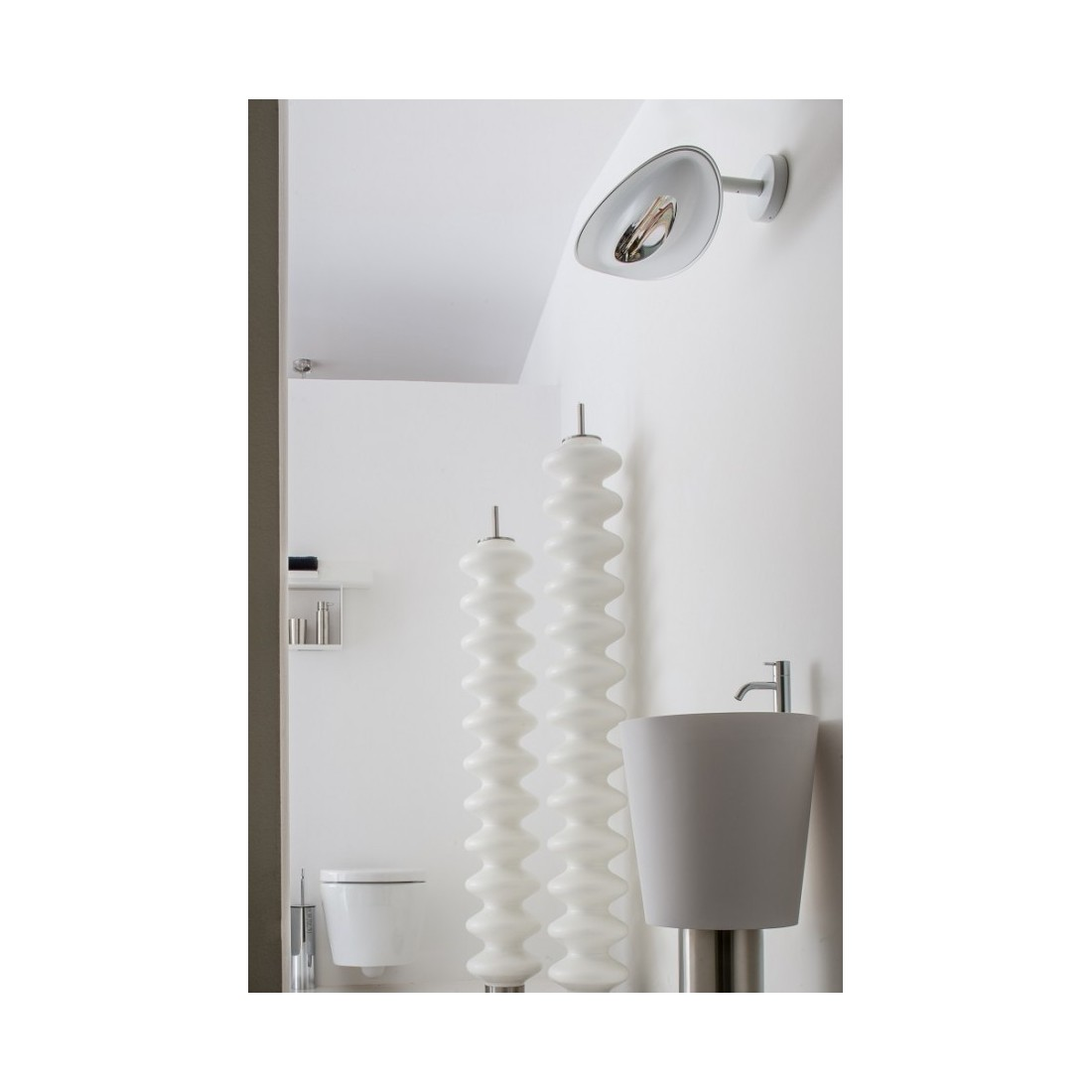 Lampe chauffante infrarouge applique murale phormalab for Support applique murale