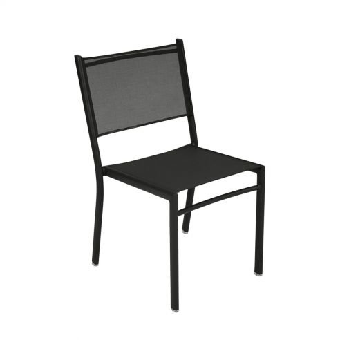 Chaise empilable - COSTA - assise toile - FERMOB