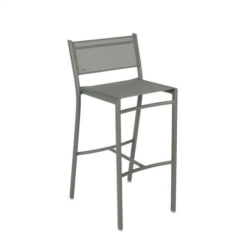Chaise de bar - COSTA - assise toile - FERMOB