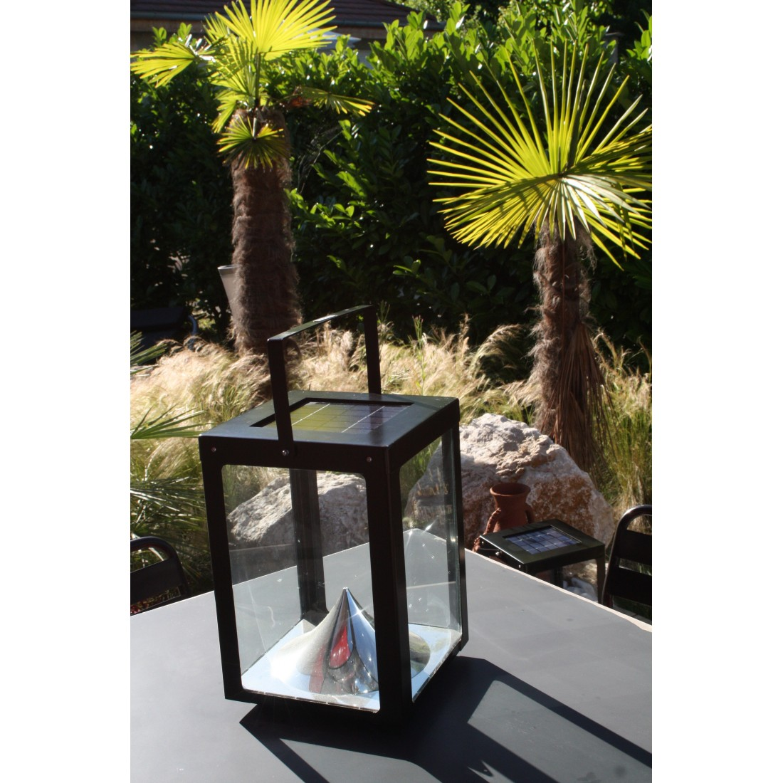 Photophore solaire grand model watt and home watt home - Grand photophore jardin ...
