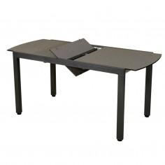 Table extensible TICAO - 145/185x75cm gris espace - LES JARDINS