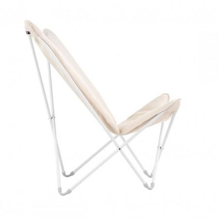 Fauteuil lounge SPHINX - Argile - Structure blanche - LAFUMA