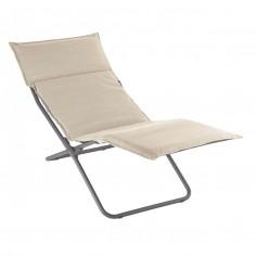 Chaise longue BAYANNE Latte - Structure Titane - LAFUMA