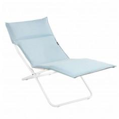 Chaise longue BAYANNE Céladon - Structure Blanche - LAFUMA