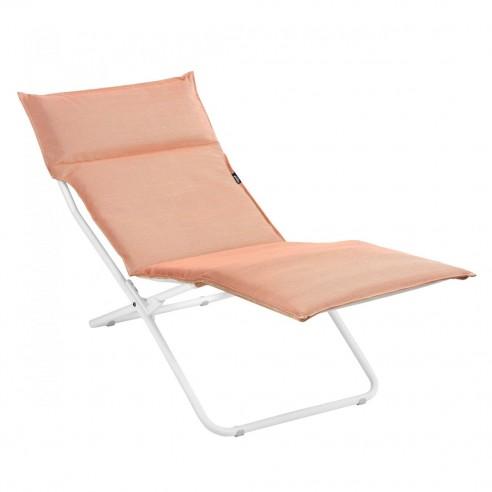 Chaise longue BAYANNE Ocre - Structure Blanche - LAFUMA
