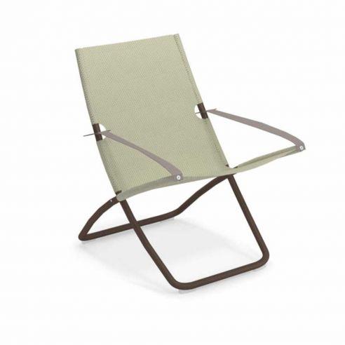 Chaise longue SNOOZE - marron d'Inde - Beige - EMU