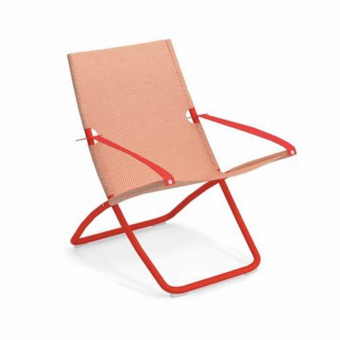 Chaise longue SNOOZE - rouge écarlate - Pêche - EMU