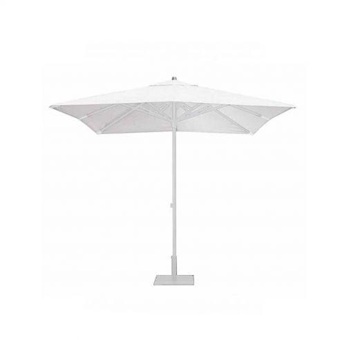 Parasol Easy Track - 250 x 250 cm - mât blanc - Vlaemynck