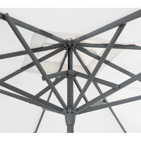 Parasol Easy Track - 250 x 250 cm - mât anthracite - Vlaemynck