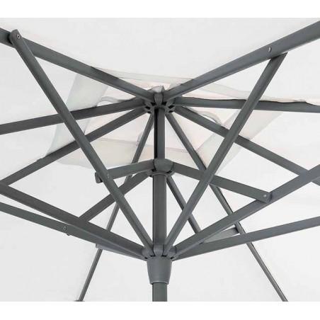 Parasol Easy Track - 330 x 330 cm - mât blanc - Vlaemynck