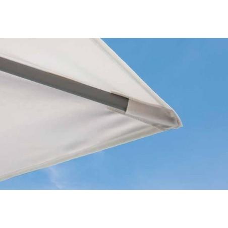 Parasol Easy Track - 400 x 300 cm - mât blanc - Vlaemynck
