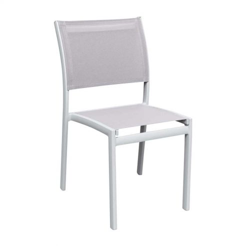 Chaise repas OLYMPE, structure blanche, toile Batyline ISO -  Vlaemynck