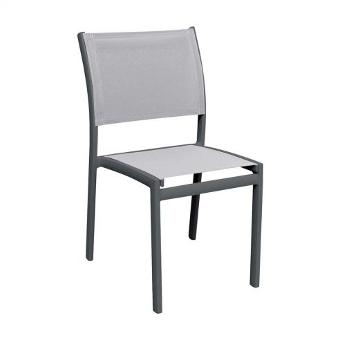 Chaise repas OLYMPE, structure anthracite, toile Batyline ISO -  Vlaemynck