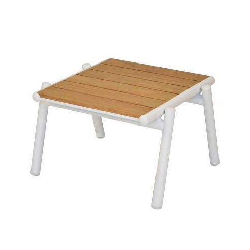 Petite table basse en teck Pilotis - 54 x48 cm - Vlaemynck