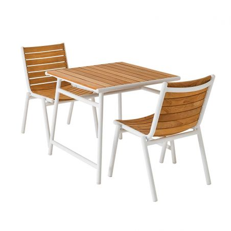 Table repas en teck Pilotis - 80 x 80 cm - Vlaemynck